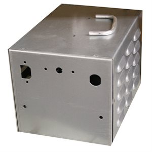 GALVANIZED METAL BALLAST BOX WITH HOLE (SWITCH)