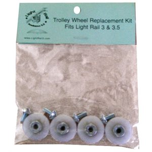 LIGHT RAIL PLASTIC WHEELS (4)