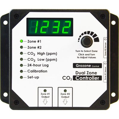 GROZONE CO2D DUAL ZONE CO2 CONTROLLER 0-5000 PPM (1)