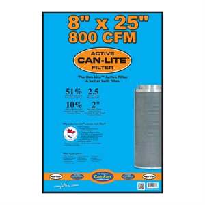 CAN-FILTERS CAN-LITE MINI CARBON FILTER 800 CFM 8'' X 25''