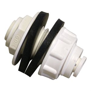 HYDROFOGGER 1 / 4'' BULKHEAD FITTING + 2 WASHERS WHITE (1)